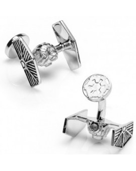 Palladium Tie Starfighter Star Wars Cufflinks