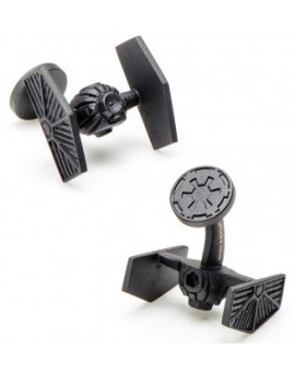 Matte Black Tie Starfighter Star Wars Cufflinks