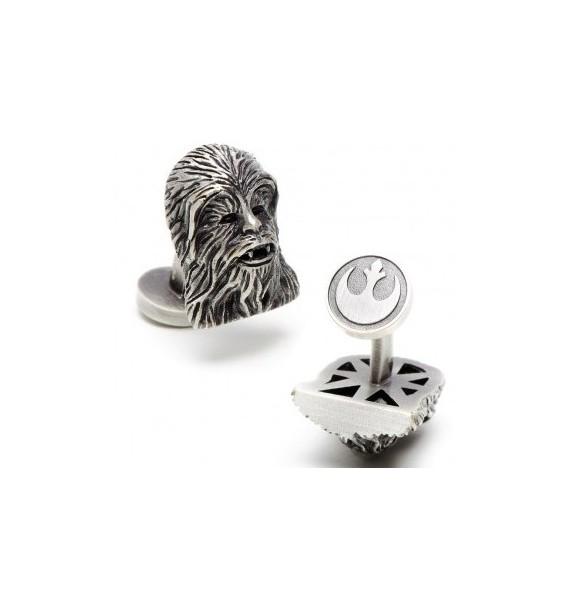 3D Palladium Chewbacca Star Wars Cufflinks