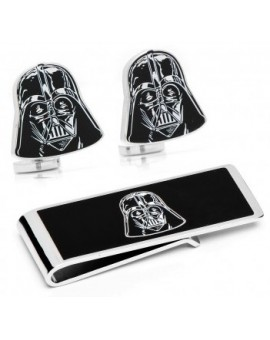 Darth Vader Cufflinks and Money Clip Gift Set