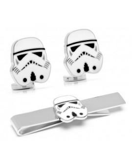 Pack Gemelos y Pisacorbatas Storm Trooper Star Wars