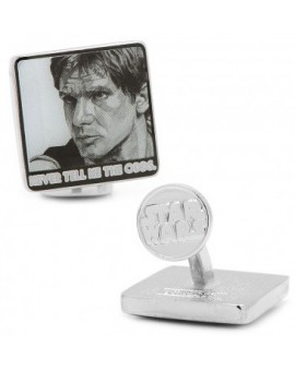 """Never Tell Me The Odds"" Han Solo Pop Art Poster Cufflinks"