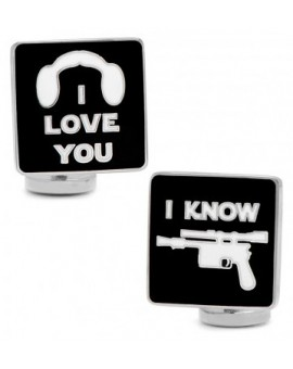 I love you and I know Pop Art Poster Star Wars Cufflinks
