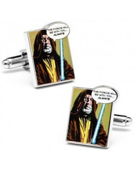 """The Force Will Be With You Always"" Star Wars Cufflinks"