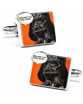 """Beware the dark side"" Pop Art Poster Star Wars Cufflinks"