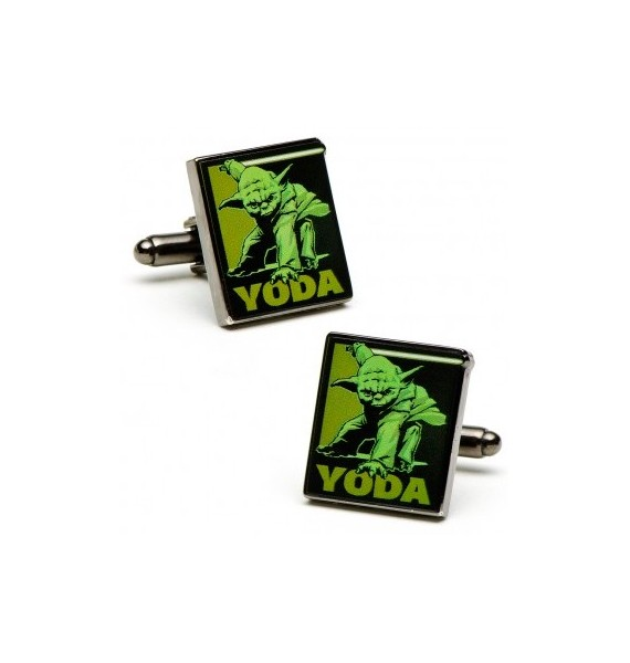 Fighting Yoda Pop Art Poster Cufflinks