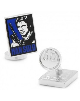 Han Solo Pop Art Poster Cufflinks