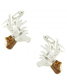 Brown Deer Head Cufflinks