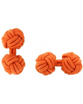 Orange Silk Knot Cufflinks