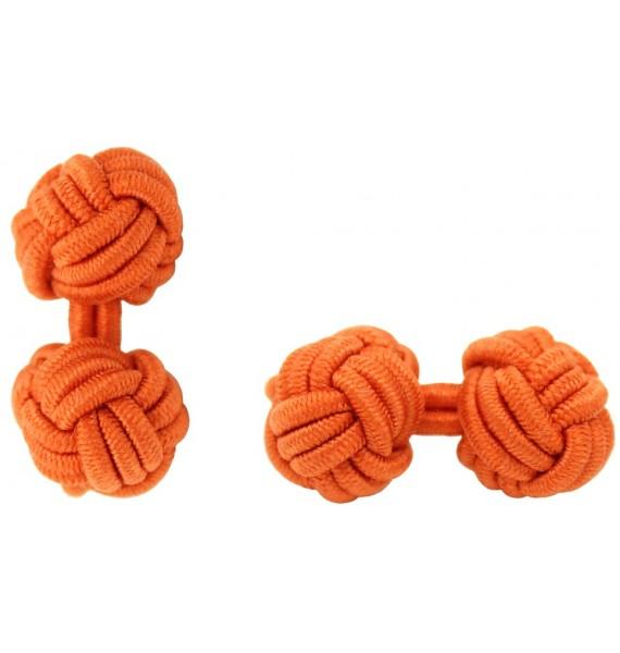 Orange Silk Knot Cufflinks