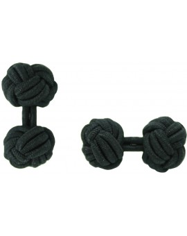Black Silk Knot Cufflinks