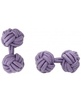 Light Purple Silk Knot Cufflinks