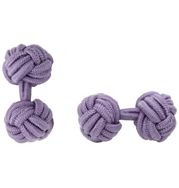 Light Purple Silk Knot Cufflinks