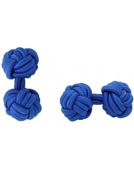 Cobalt Blue Silk Knot Cufflinks