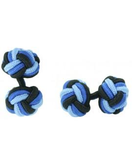 Gemelos Bola Elástico Negro, Azul Cobalto y Azul Claro