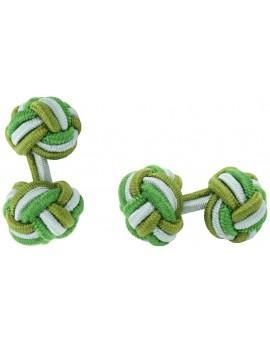 Gemelos Bola Elástico Verde Oliva, Gris y Verde Hierba