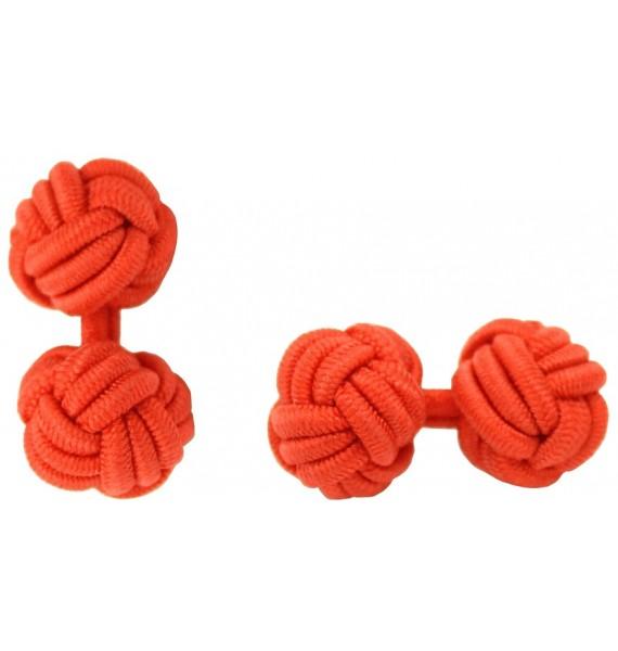 Red Silk Knot Cufflinks