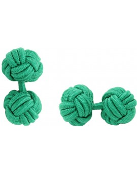 Green Silk Knot Cufflinks