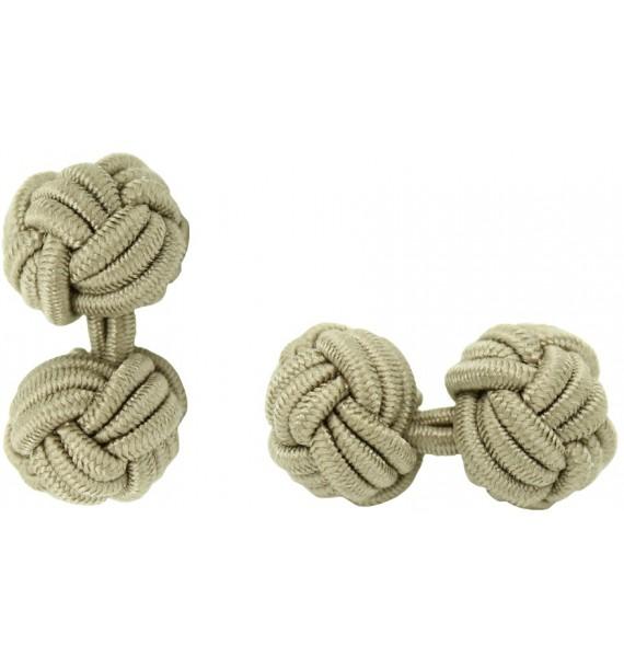 Ochre Silk Knot Cufflinks