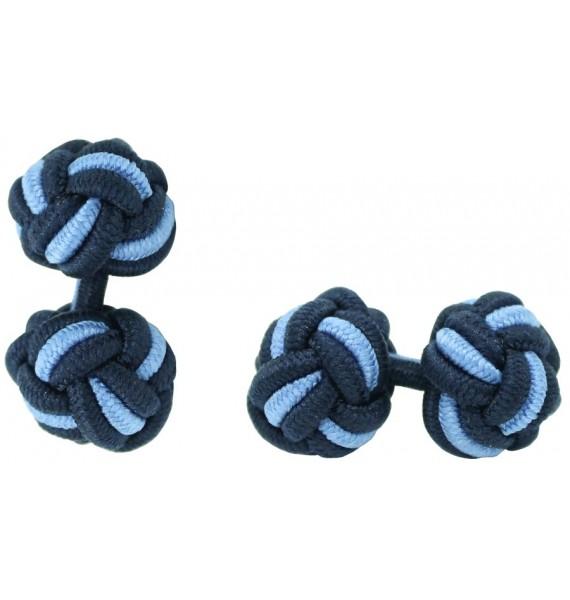 Gemelos Bola Elástico Azul Marino y Azul Claro
