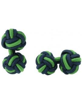 Gemelos Bola Elástico Azul Marino y Verde Hierba