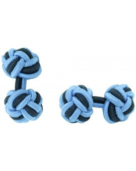 Gemelos Bola Elástico Azul Claro y Azul Marino