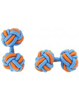 Gemelos Bola Elástico Azul y Naranja
