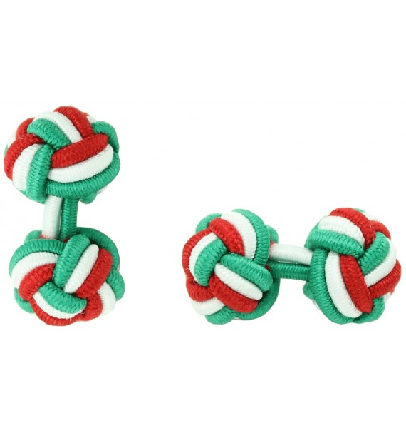 Gemelos Bola Elástico Verde, Blanco y Rojo