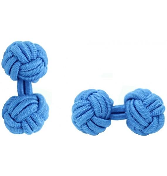 Blue Silk Knot Cufflinks
