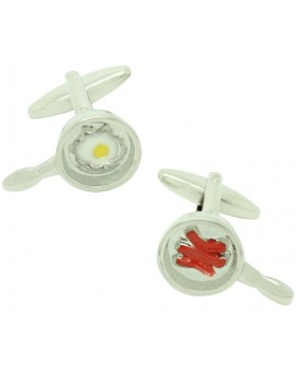 Bacon and Eggs Pan Cufflinks