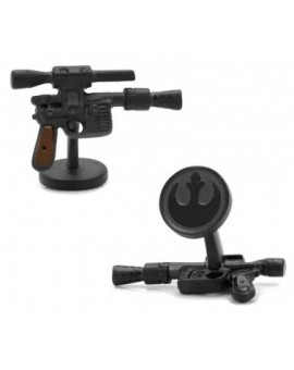 3D Han Solo DL44 Blaster Star Wars Cufflinks