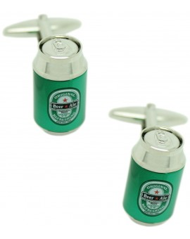 Green Beer Can Cufflinks