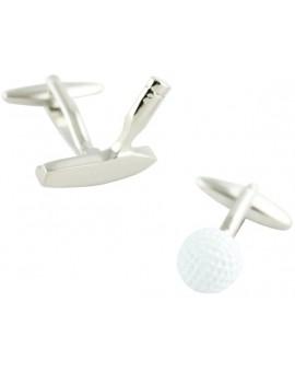 Gemelos Palo Putter y Bola Blanca de Golf