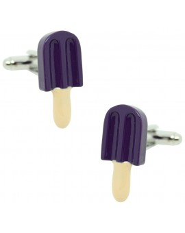 Blueberry Ice Lolly Cufflinks