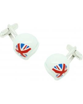 UK Helmet Cufflinks