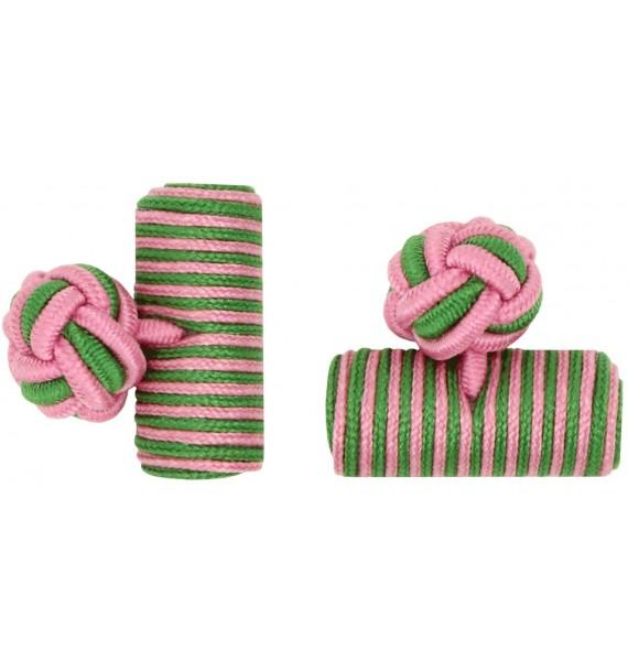 Gemelos Barril Elástico Rosa y Verde Hierba