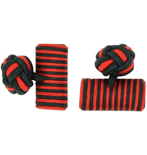 Gemelos Barril Elástico Negro y Rojo