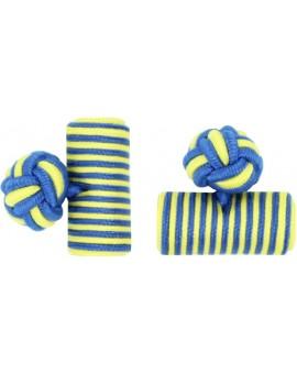 Gemelos Barril Elástico Azul Cobalto y Amarillo