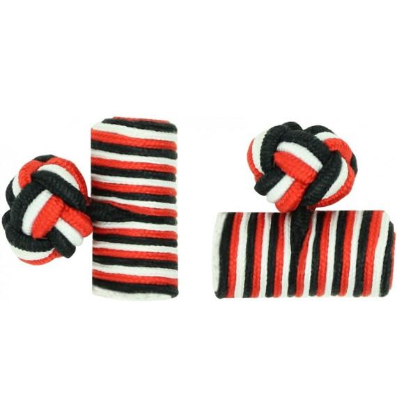 Gemelos Barril Elástico Rojo, Blanco y Negro