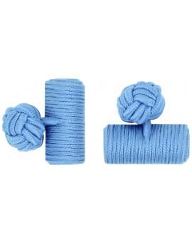 Gemelos Barril Elástico Azul Claro