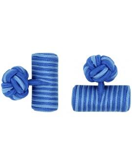 Gemelos Barril Elástico Azul Cobalto y Azul Claro