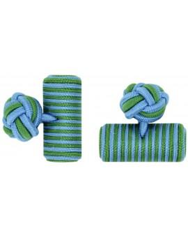 Gemelos Barril Elástico Azul Claro y Verde Hierba