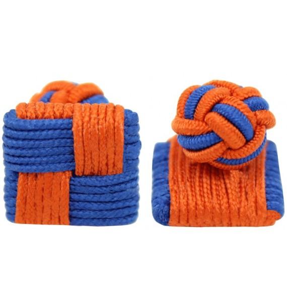 Gemelos Cuadrado Elástico Azul y Naranja