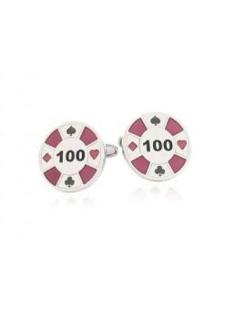 Gemelos Ficha de Poker Morada