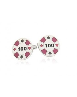 Purple Poker Chip Cufflinks