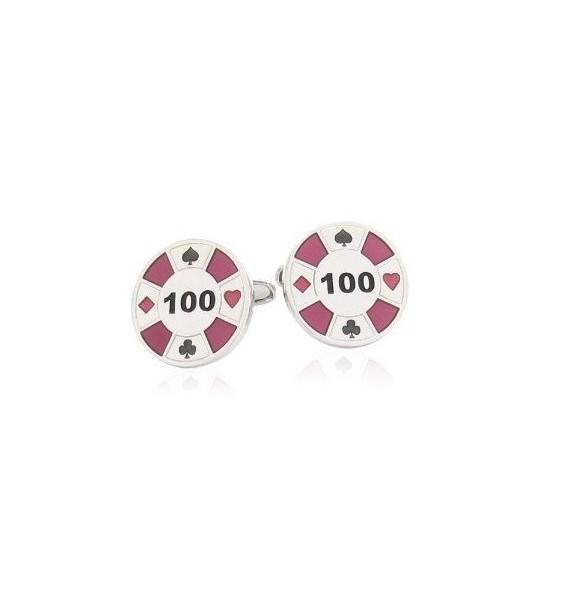 Purple Poker Chip Cufflinks