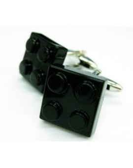 Black LEGO Brick Cufflinks