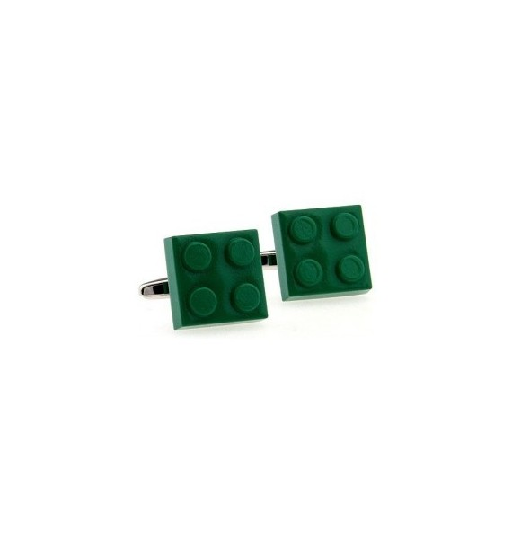 Green LEGO Brick Cufflinks