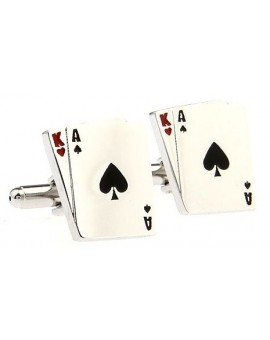 Poker Spade Cards Cufflinks