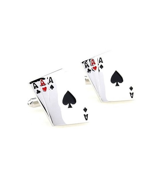 Poker Aces Cards Cufflinks